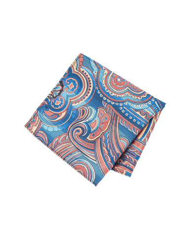 Multi-colored Paisley Pocket Square