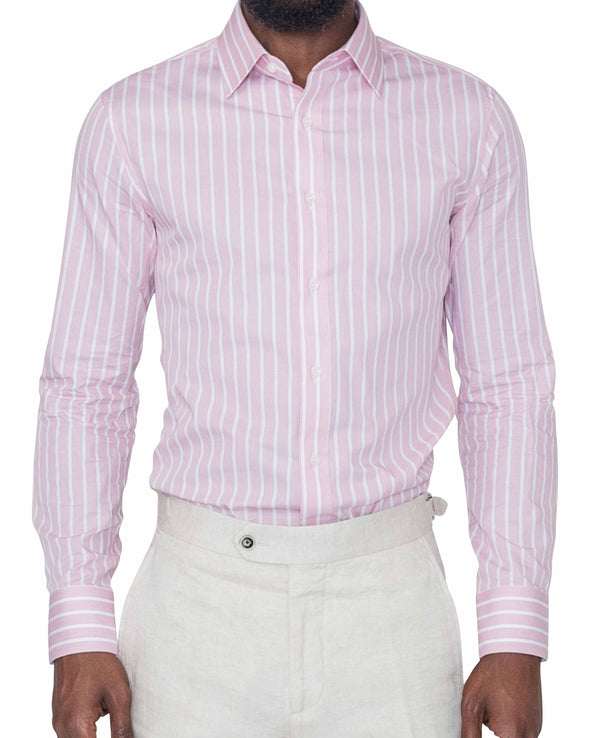 David Pink Stripe Shirt