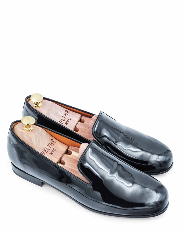 Gary Black Patent Leather Slippers 2