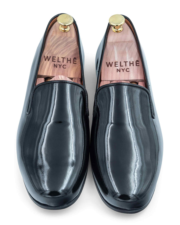 Gary Black Patent Leather Slippers 3