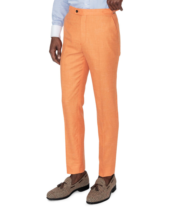 Miami Orange Suit Trousers Side
