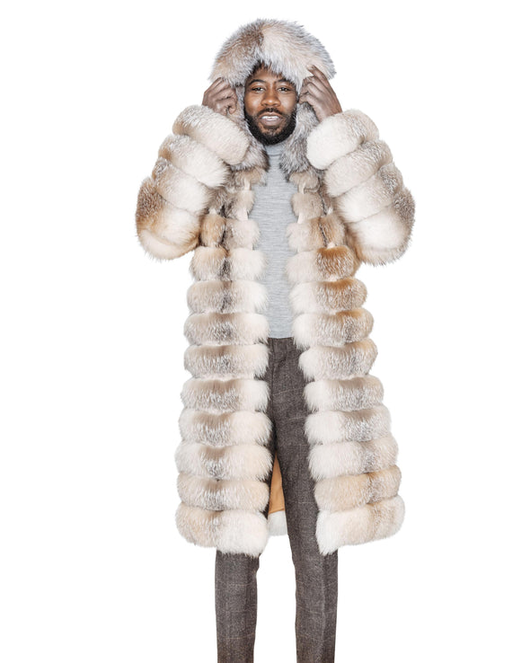 Mitch Crystal Fox Fur Coat