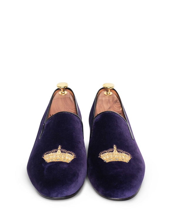 Nicholas Purple Velvet Slipper Loafers 3