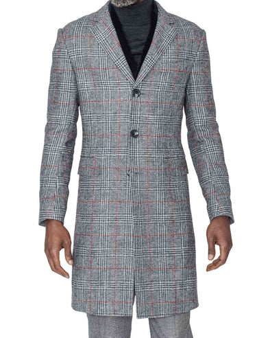 Sam Glen Plaid Coat Closed