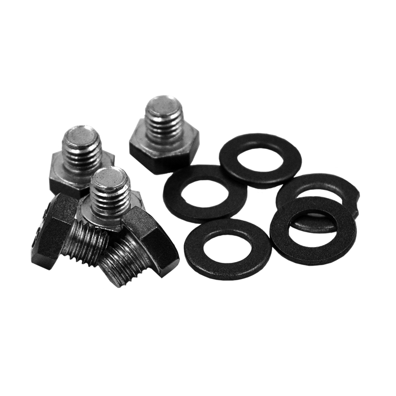 RBL-BOLT-SSG RACELINE WHEELS GRAY STAINLESS STEEL BOLT/WASHER 5 PACK