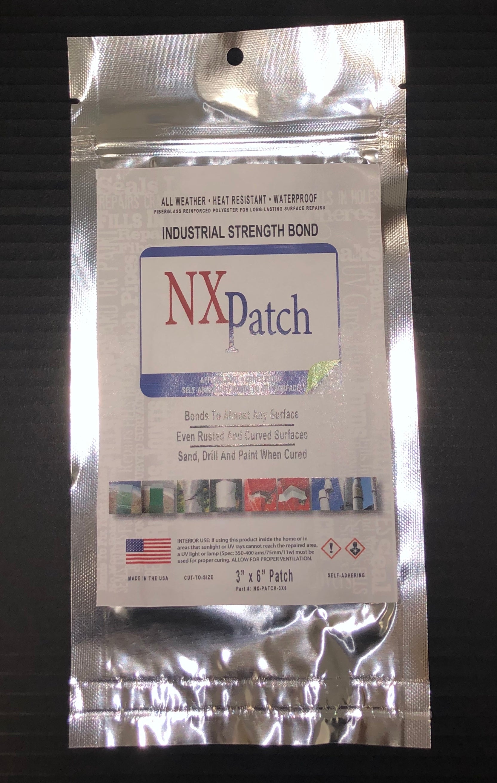 "NXKEM UV - Peel-n-Patch - 3""x6"" - 4 Pack"
