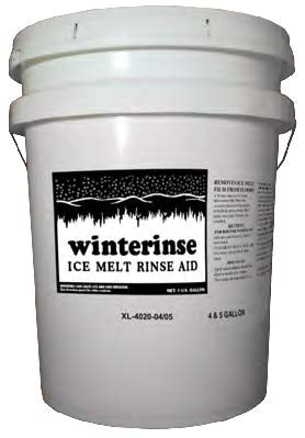 Winterinse Floor Rinse Neutralizes Ice - 5 Gallon Pail