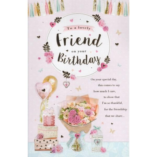 Lovely Friends Gifts Birthday Card