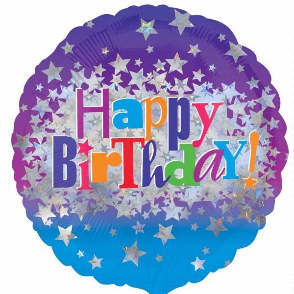 "Birthday Bright Stars 18"" Foil Balloon"