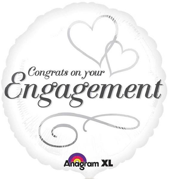"Two Hearts Engagement 18"" Foil Balloon"
