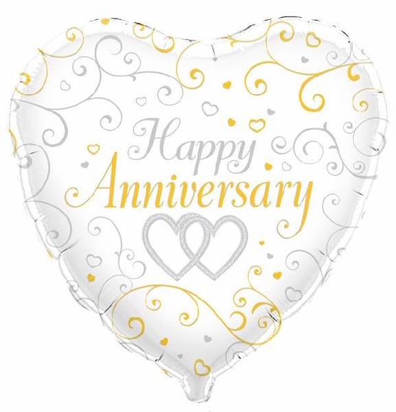 "Silver & Gold Wedding Anniversary 18"" Foil Balloon"