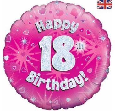 "18th Birthday Pink 18"" Foil Balloon"