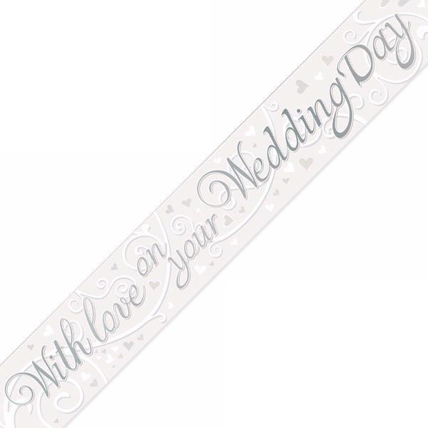 9ft White Wedding Day Banner