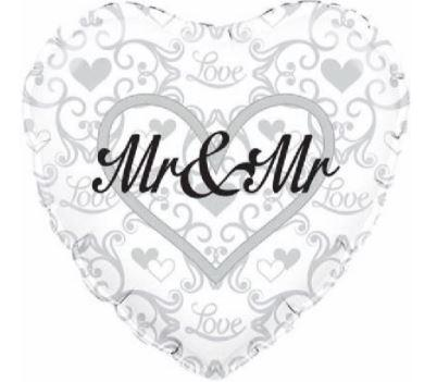 "Mr & Mr 18"" Foil Balloon"
