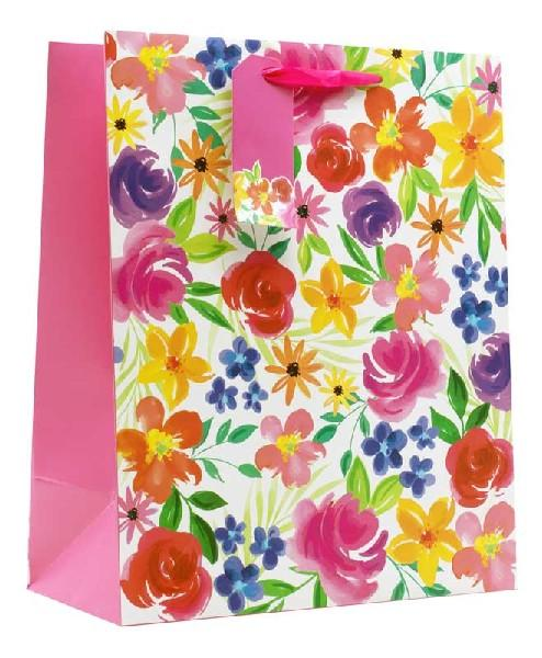 Floral Multicoloured Large Gift Bag