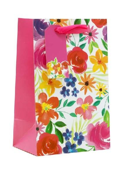 Floral Multicoloured Small Gift Bag