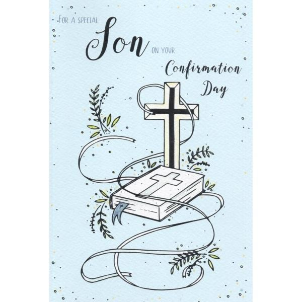 For A Special Son On Your Confirmation Day Card
