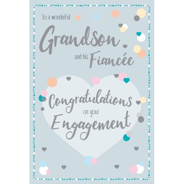 Wonderful Grandson & Fiancée Engagement Card