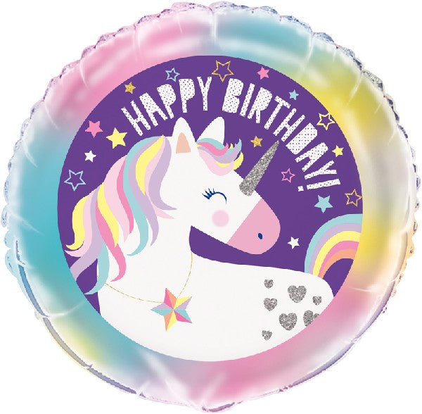"Happy Birthday Unicorn 18"" Foil Balloon"
