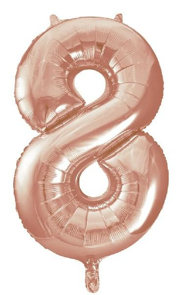"Rose Gold Number 8 34"" Foil Balloon"