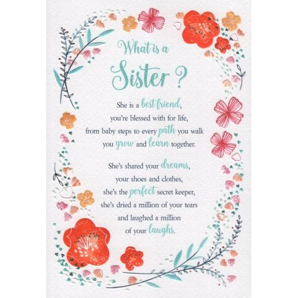 Birthday Card - What is a Sister? Card