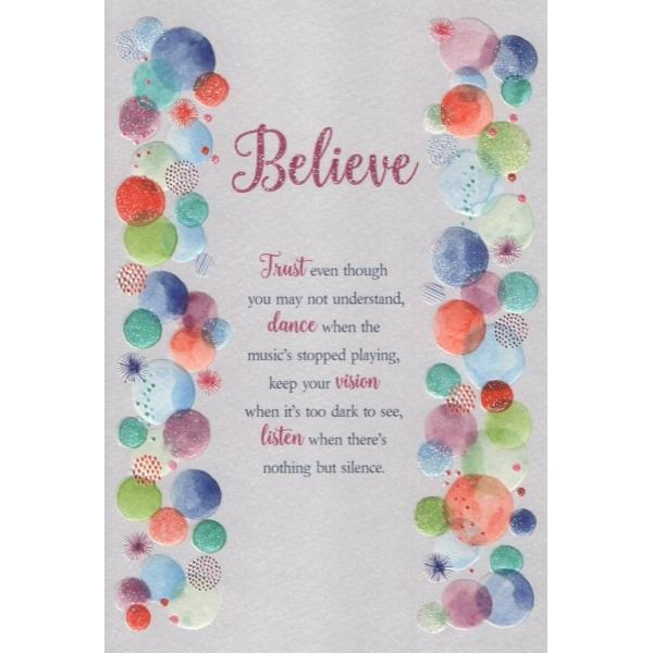 Believe Trust Even Though You May Not Understand Card
