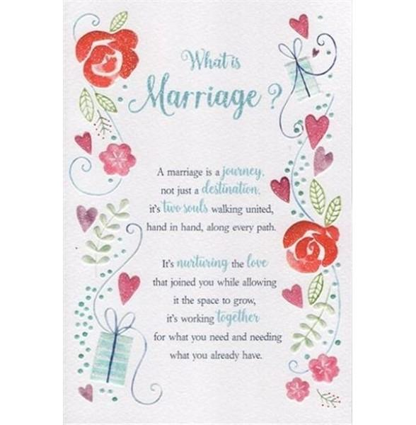 What Is Marriage? Floral Wedding Card
