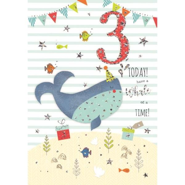 3rd Birthday Card - Whale of a Time!