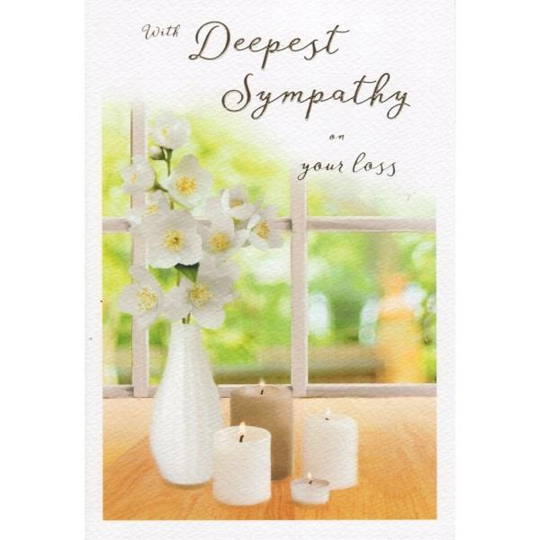 With Deepest Sympathy On Your Loss Card