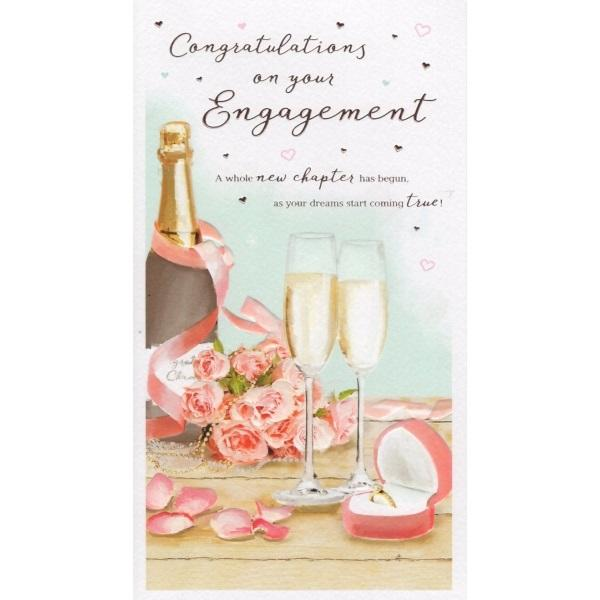 A Whole New Chapter Has Begun Engagement Card
