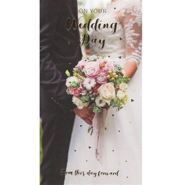 From This Day Forward Pretty Bouquet Wedding Card