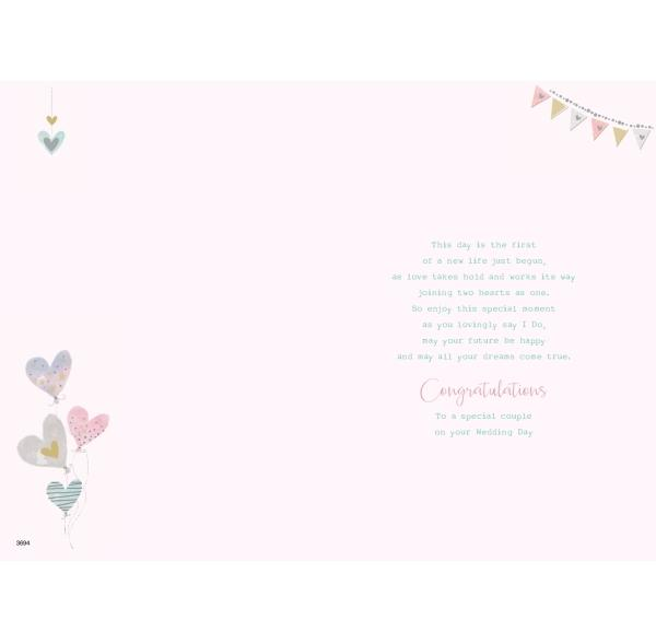 Special Grandson & Wife Just Married Wedding Card