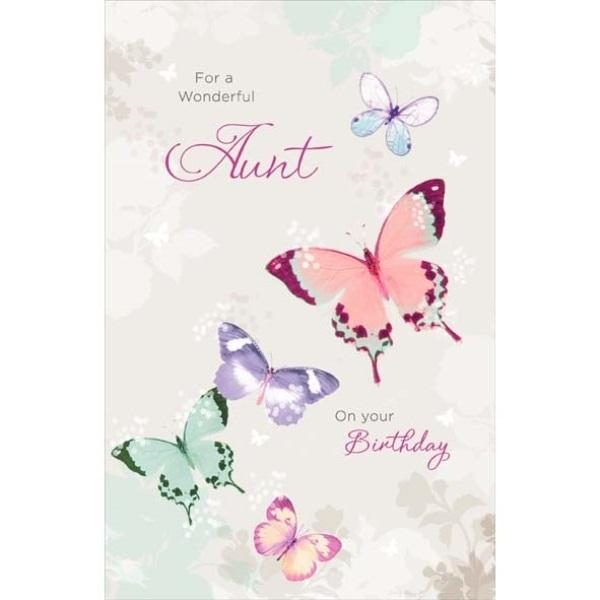 Birthday Card - Aunt Butterfly