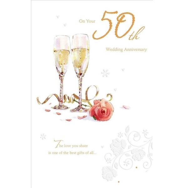 On Your 50th Wedding Anniversary Anniversary Card
