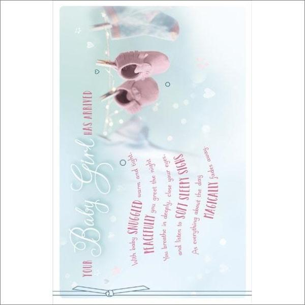 Your Baby Girl Has Arrived New Baby Card