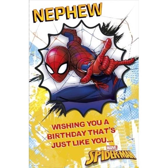 Spiderman Nephew Birthday Card