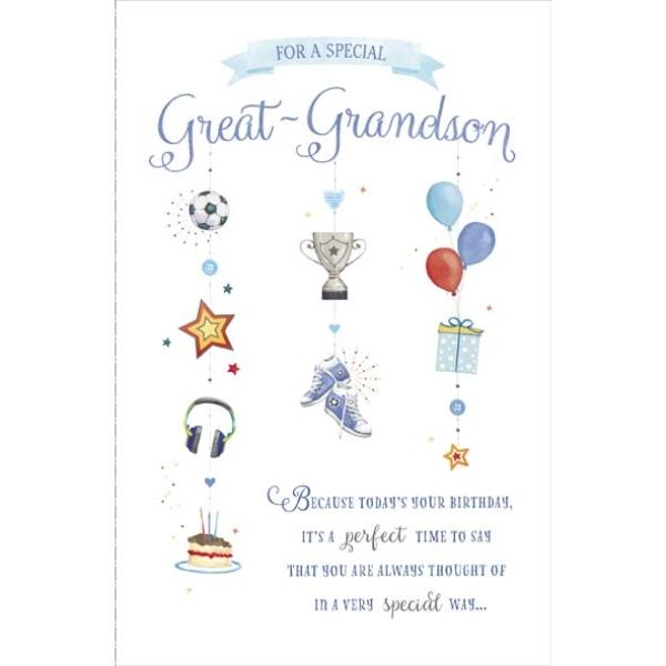 Special Great Grandson Birthday Card