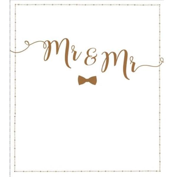 Mr & Mr Gold Wedding Card
