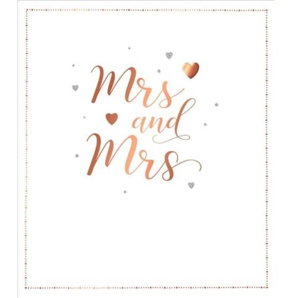 Mrs & Mrs Gold Wedding Card