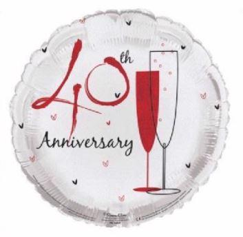 "40th Anniversary 18"" Foil Balloon"