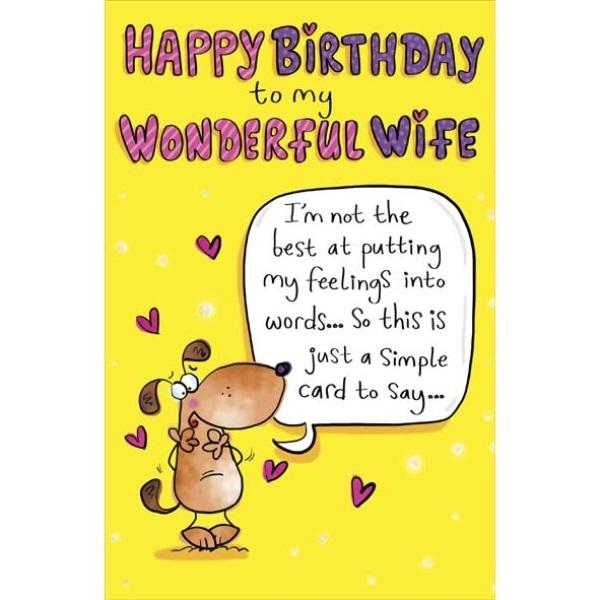 Birthday Card - Doggy Wife Cover