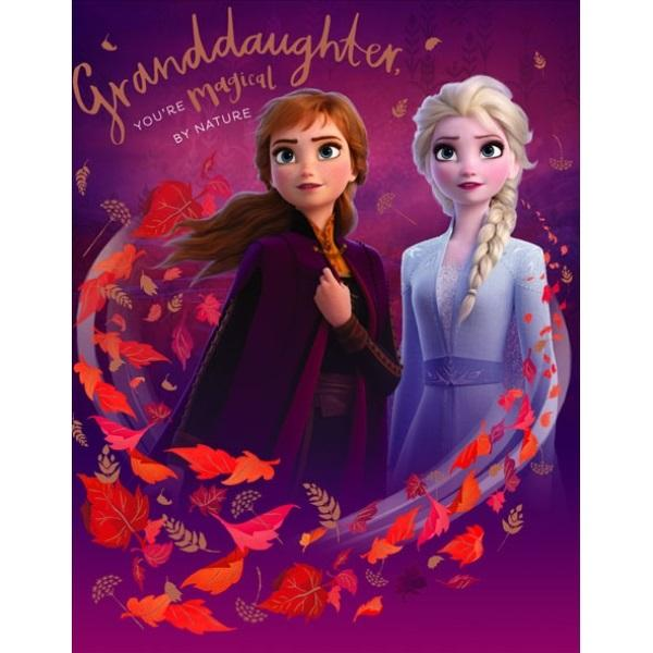 Birthday Card - Granddaughter Frozen
