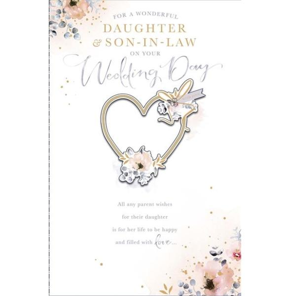 Wonderful Daughter & Son-in-law Wedding Card