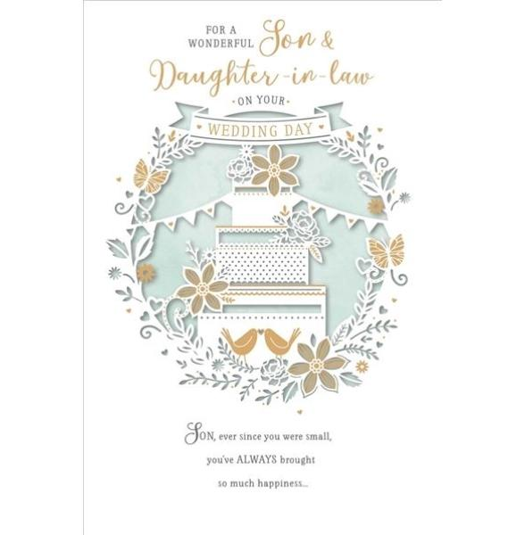 Wonderful Son & Daughter-in-law Wedding Card
