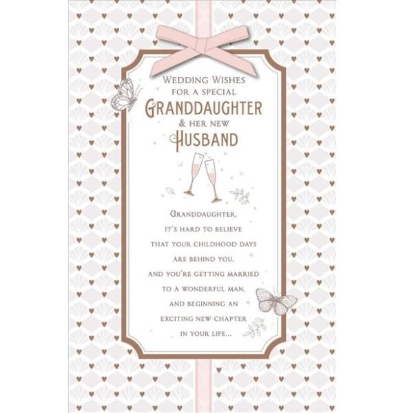 Special Granddaughter & Husband Wedding Card
