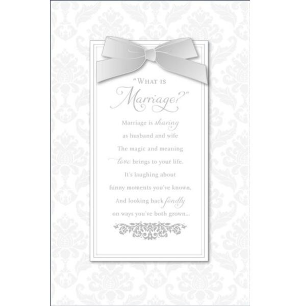 What Is Marriage? Wedding Card
