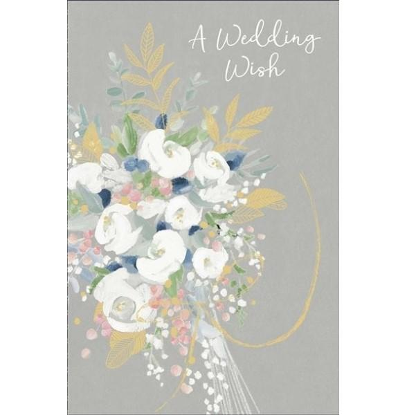 A Wedding Wish Bouquet Wedding Card