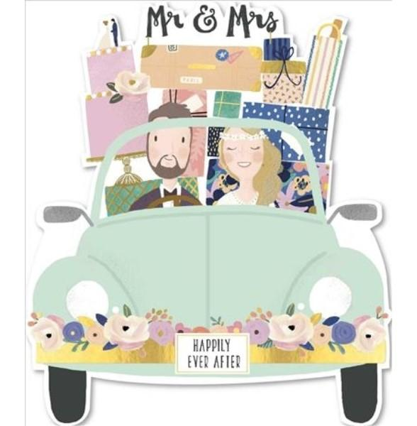 Mr & Mrs Marriage Journey Wedding Card
