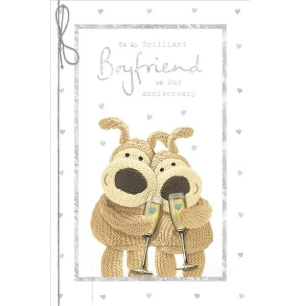For My Brilliant Boyfriend Boofle Anniversary Card