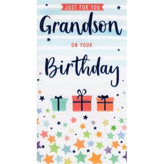 Grandson Letters Birthday Card